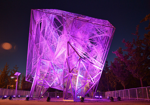 "Oyler Wu Collaboratives ""The Cube"" at the 2013 Beijing Biennale. Photo: Jason Wheeler."