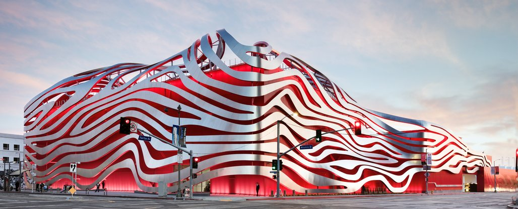 ​Wheeeeeeeee! The Petersen Automotive Museum on Wilshire Boulevard.