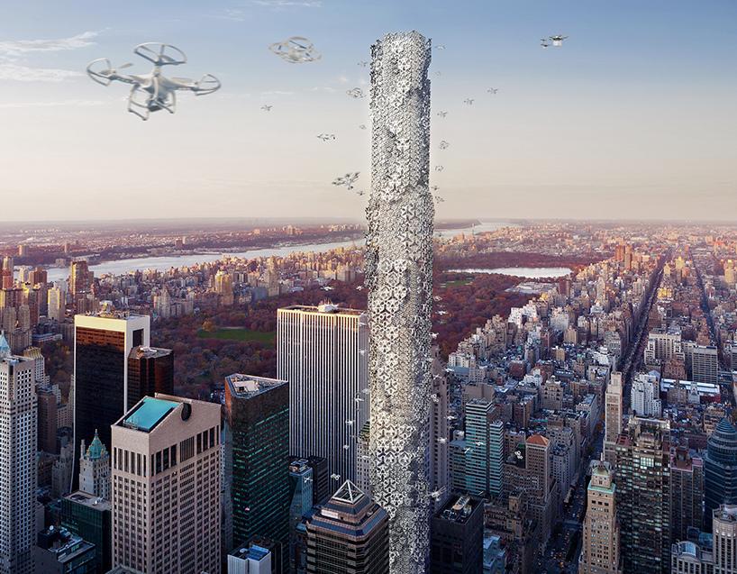 The dronescraper in action. Image: Hadeel Ayed Mohammed, Yifeng Zhao and Chengda Zhu