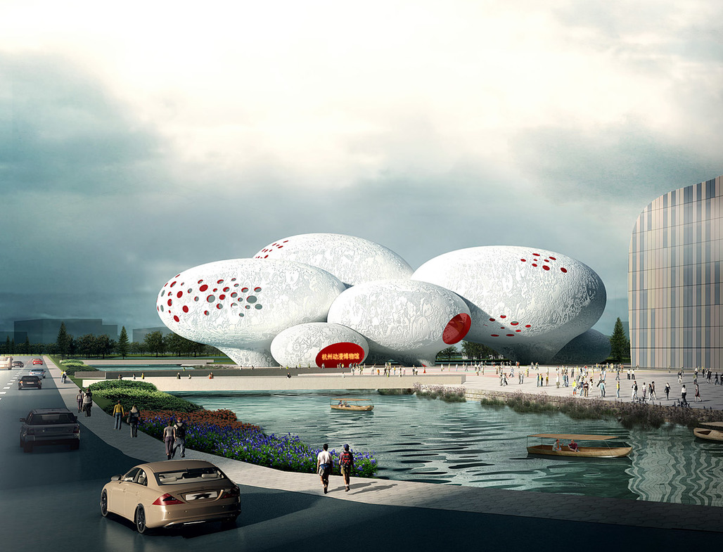 Competition-winning design for the China Comic and Animation Museum (CCAM) by MVRDV © MVRDV