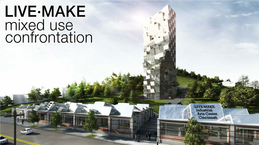 Detail of the competition-winning entry mixed use confrontation by Oliver Terrisse