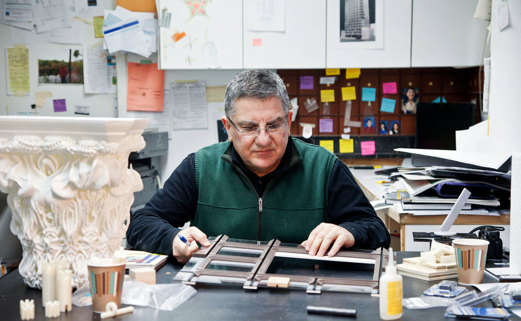 Richard Tenguerian in his basement workshop near Astor Place photo by Katherine Marks for The New York Times