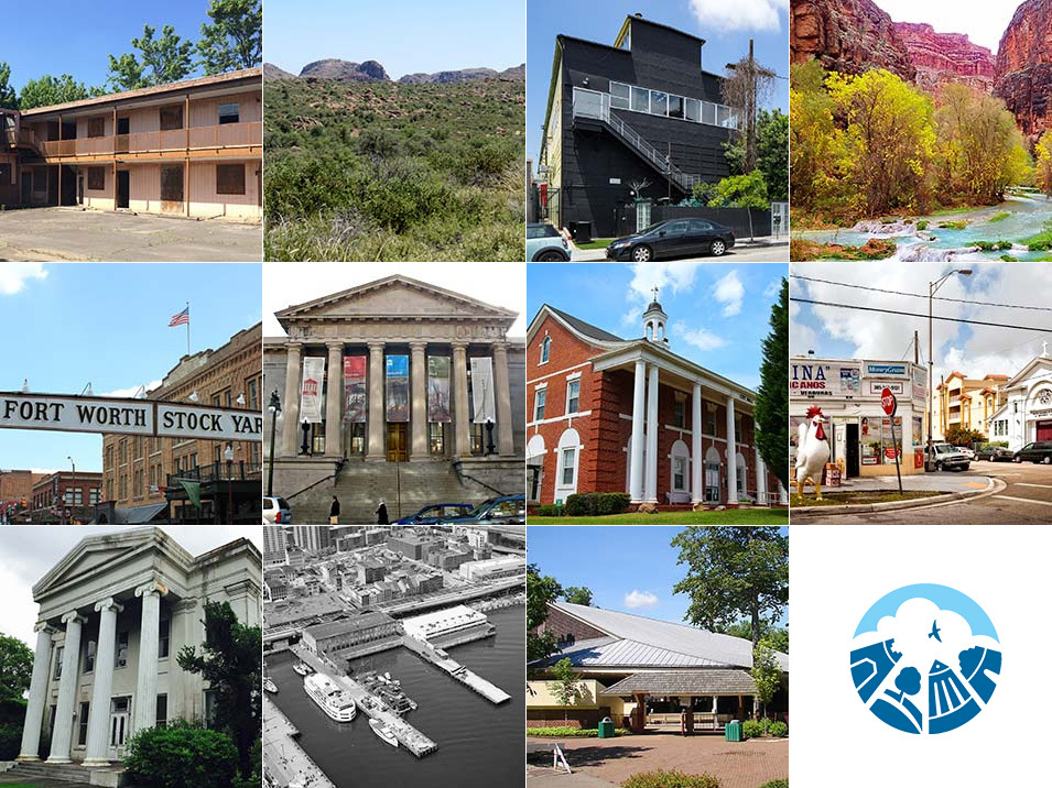 11 historic sites that the National Trust for Historic Preservation included on its 2015 List of Americas Most Endangered Historic Places. (Images via preservationnation.org)