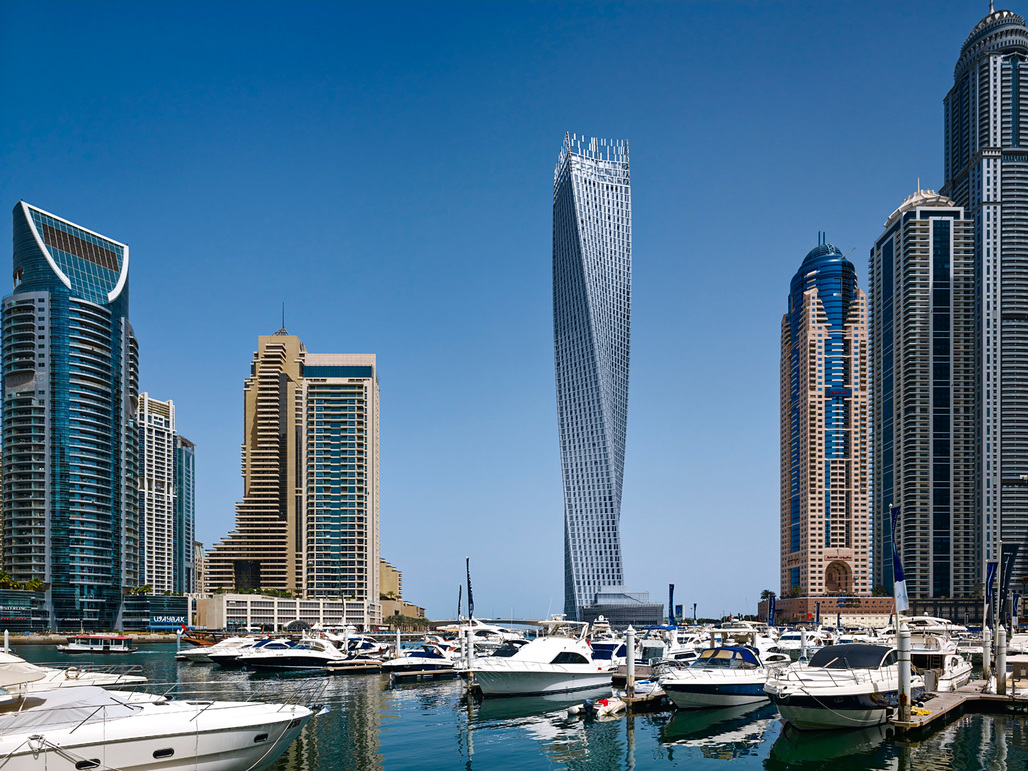 Middle East & Africa regional winner: Cayan Tower, Dubai, UAE. Photo © Tim Griffith