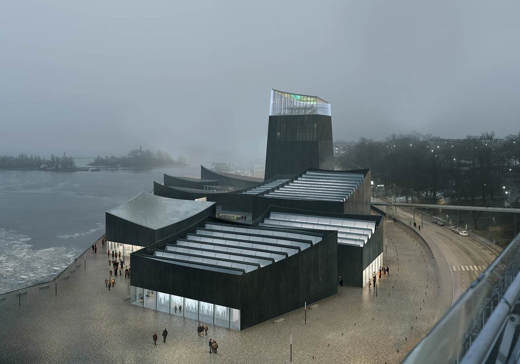"""The winning proposal for the <a href=""""http://archinect.com/news/article/130277836/who-are-helsinki-guggenheim-winners-nicolas-moreau-and-hiroko-kusunoki"""">Guggenheim Helsinki</a>. Image credit: Moreau Kusunoki Architectes / Guggenheim Helsinki"""