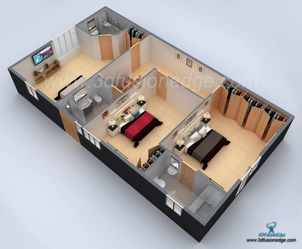 Architectural 3d floor plan rendering services for Turn floor plan into 3d model
