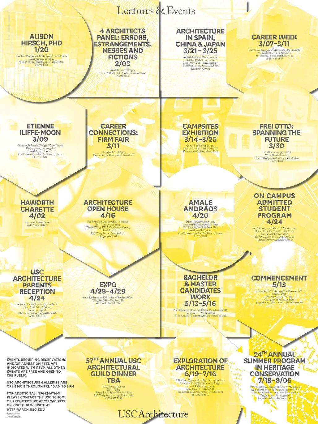 Poster design: Omnivore, Inc. Courtesy of USC School of Architecture.