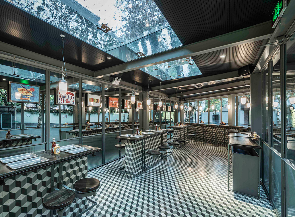 Bars & Restaurants: Neri&Hu Design and Research Office, Rachels Burger, Shanghai, China​.
