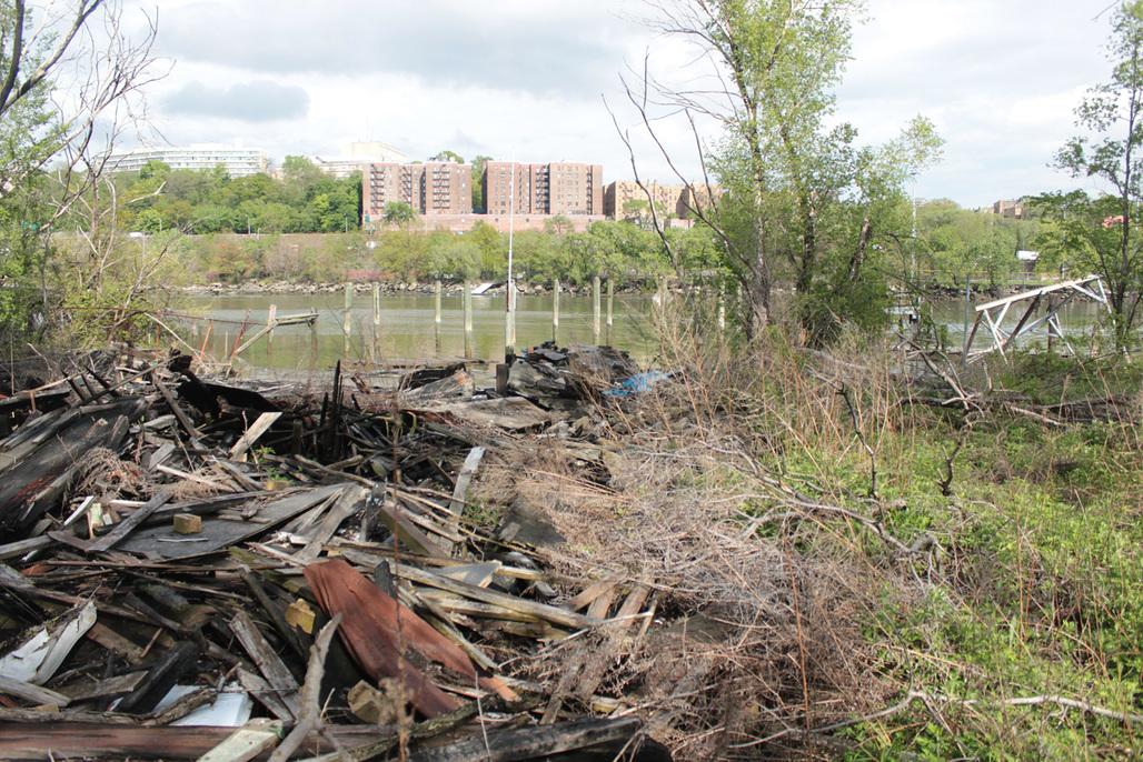 EDGEucation Pavilion: Former Boat Club Site in Sherman Creek Park (Photo: DeShaun Wright, NYRP)