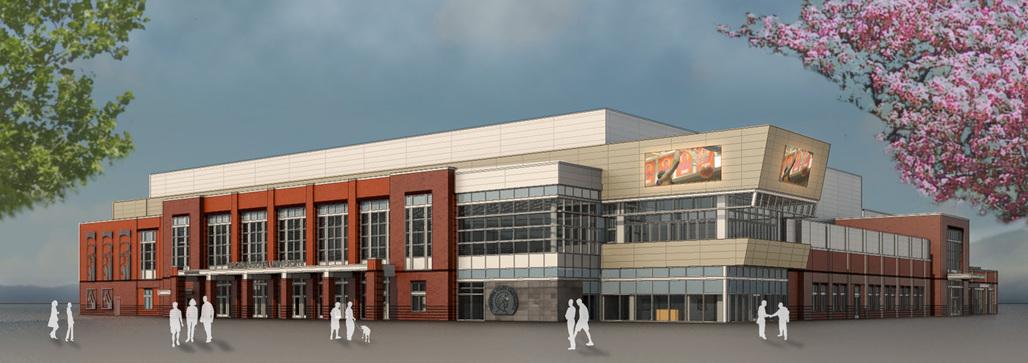 Virginia State University Multipurpose Center. Rendering courtesy VSU.
