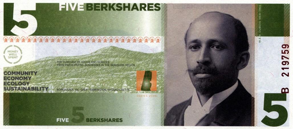BerkShares. Photo courtesy of the Buckminster Fuller Institute.