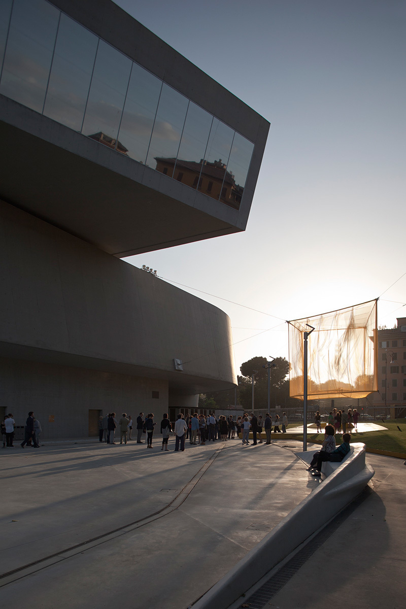 bam!'s completed He installation, winning design of the 2013 Young Architects Program, MAXXI (Photo: Alberto Sinigaglia, Courtesy Fondazione MAXXI)