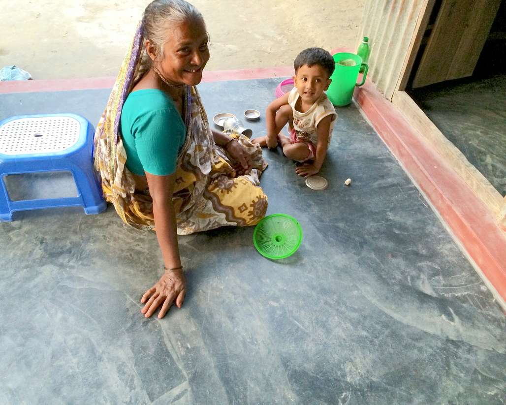 Children spend the most amount of time on floors, making them most vulnerable to parasitic and bacterial infections associated with dirt flooring. Image courtesy of ARCHIVE.