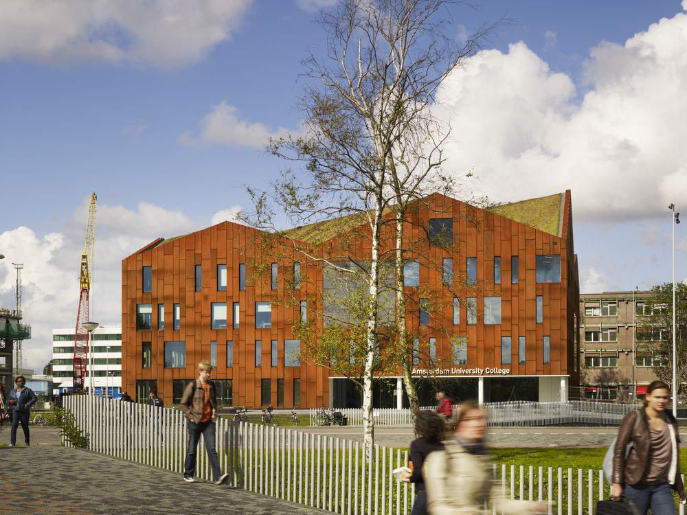 Amsterdam University College, exterior (Image: Mecanoo architecten)