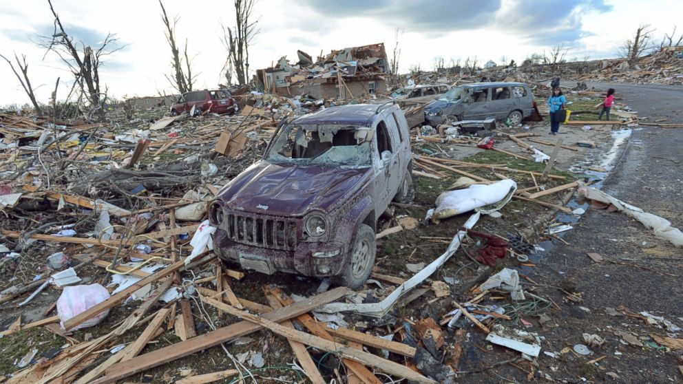 Washington, Illinois (pictured) was denied disaster relief after a 2013 tornado. Image via abcnews.go.com.