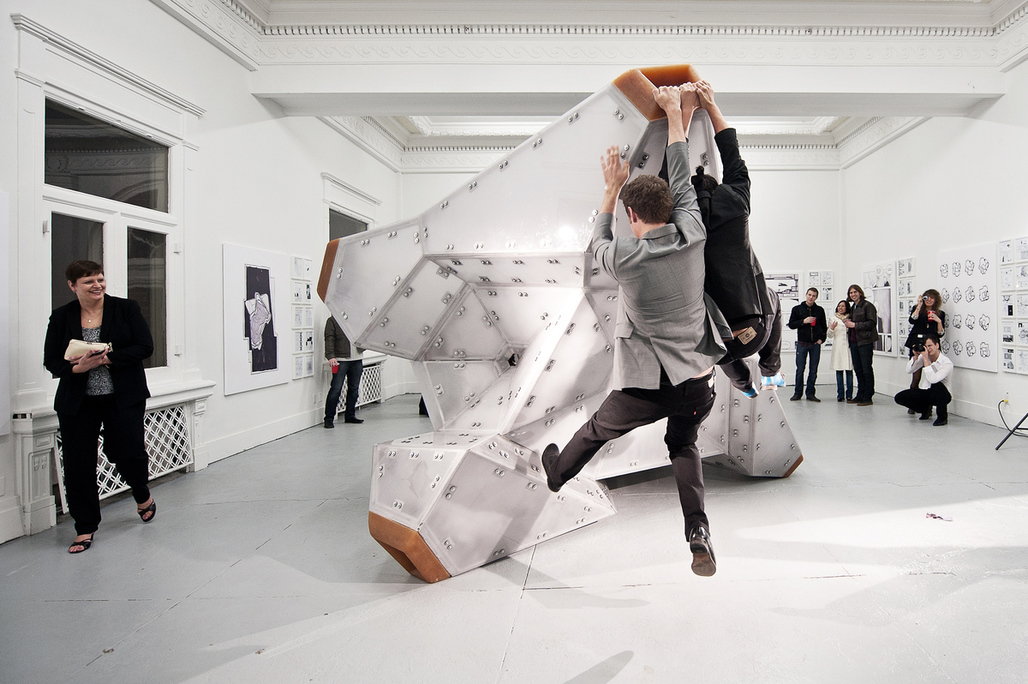 """Bureau Spectacular/Jimenez Lai's """"White Elephant,"""" now in the MoMa's permanent collection"""