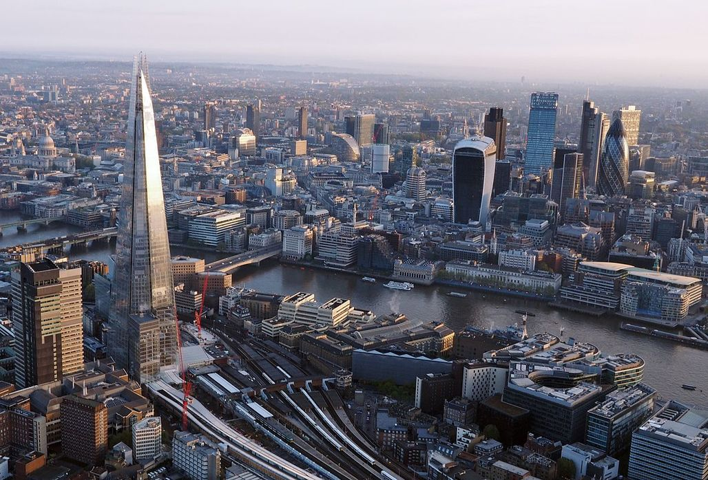 A view of London from above, via wikimedia.org