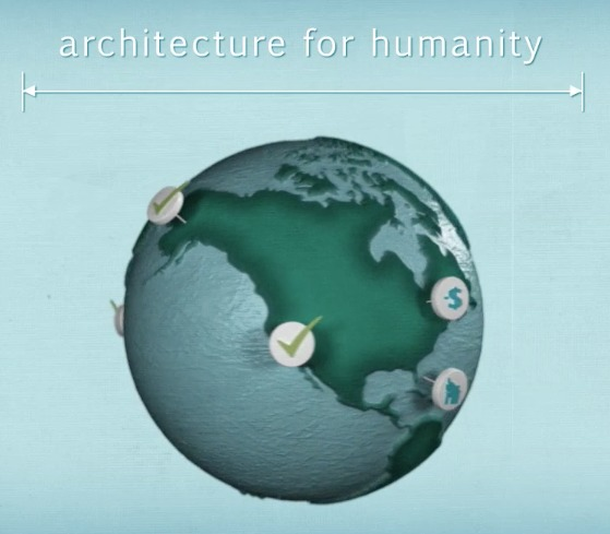 "Screenshot from ""About Architecture for Humanity in A Minute:30"" video, by Architecture for Humanity."