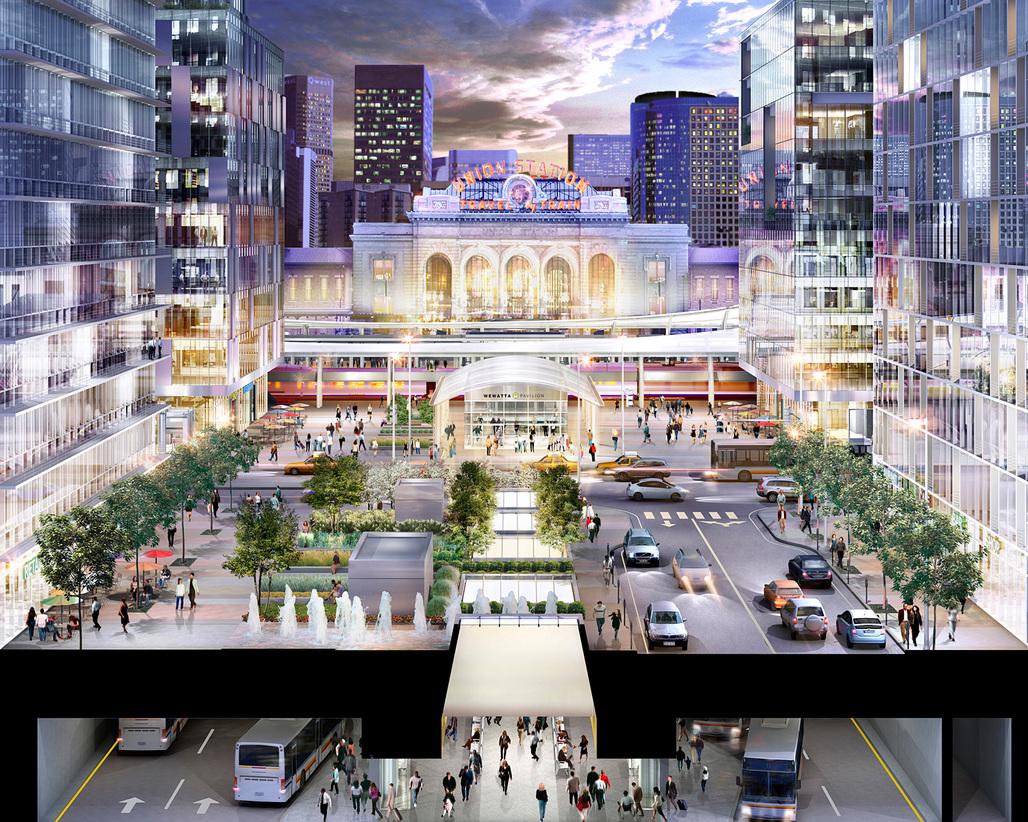 Denver Union Station Neighborhood Transformation; Denver, CO. Image courtesy of Skidmore, Owings & Merrill