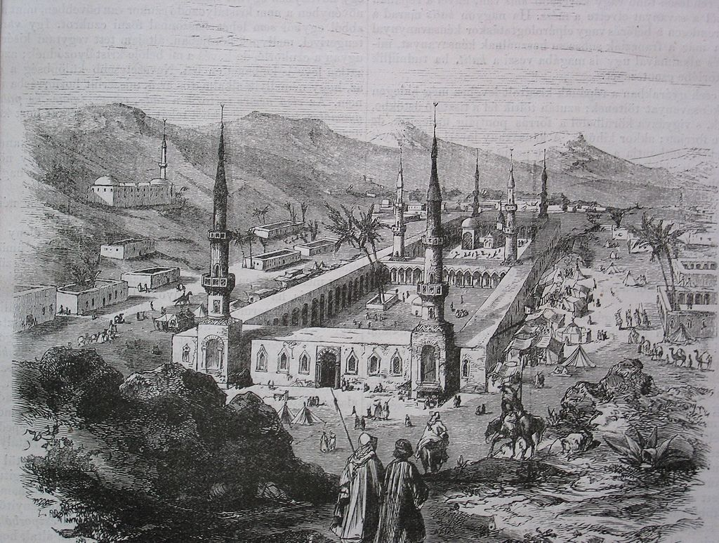 The Prophets Mosque during the Ottoman period. Credit: WikiCommons