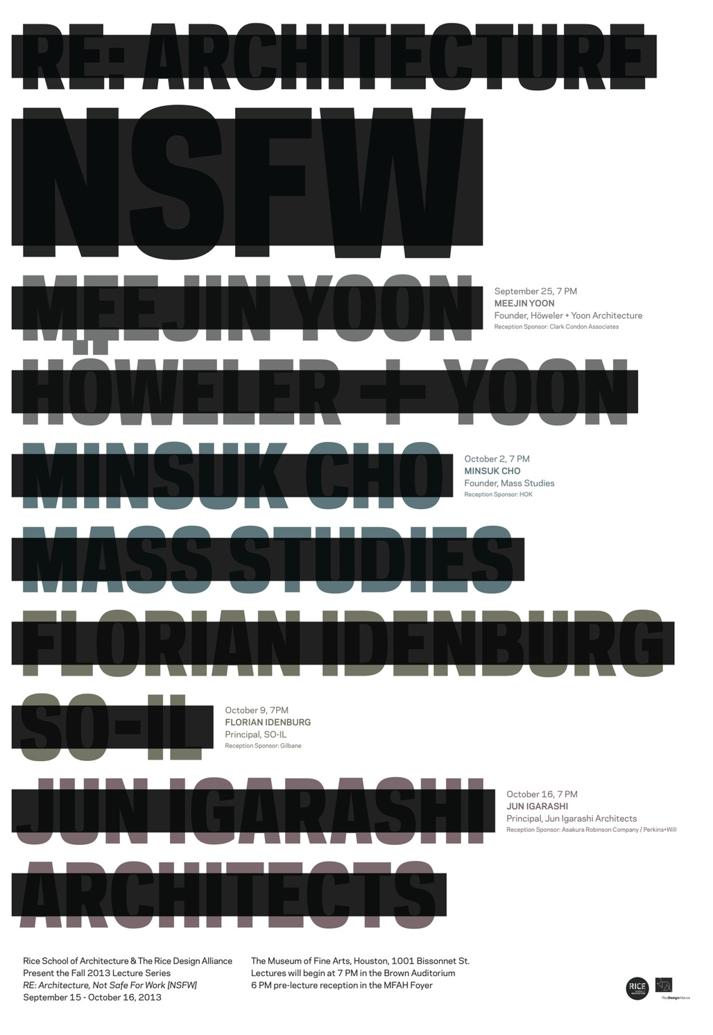 "Poster for RDA/RSAs ""Re: Architecture [NSFW]"" Fall 13 lecture series. Design by Ian Searcy."