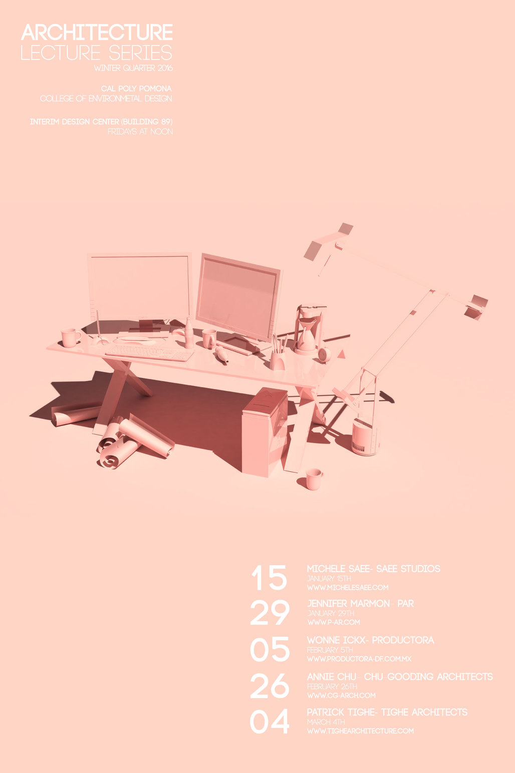 Poster Design by CPP Architecture 5th year student Adrian Newcomb.