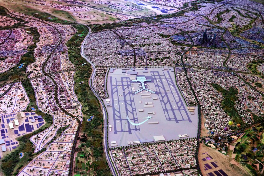 "A model of Egypts collosally ambitious ""New Capital"" project. (Image via spiegel.de)"