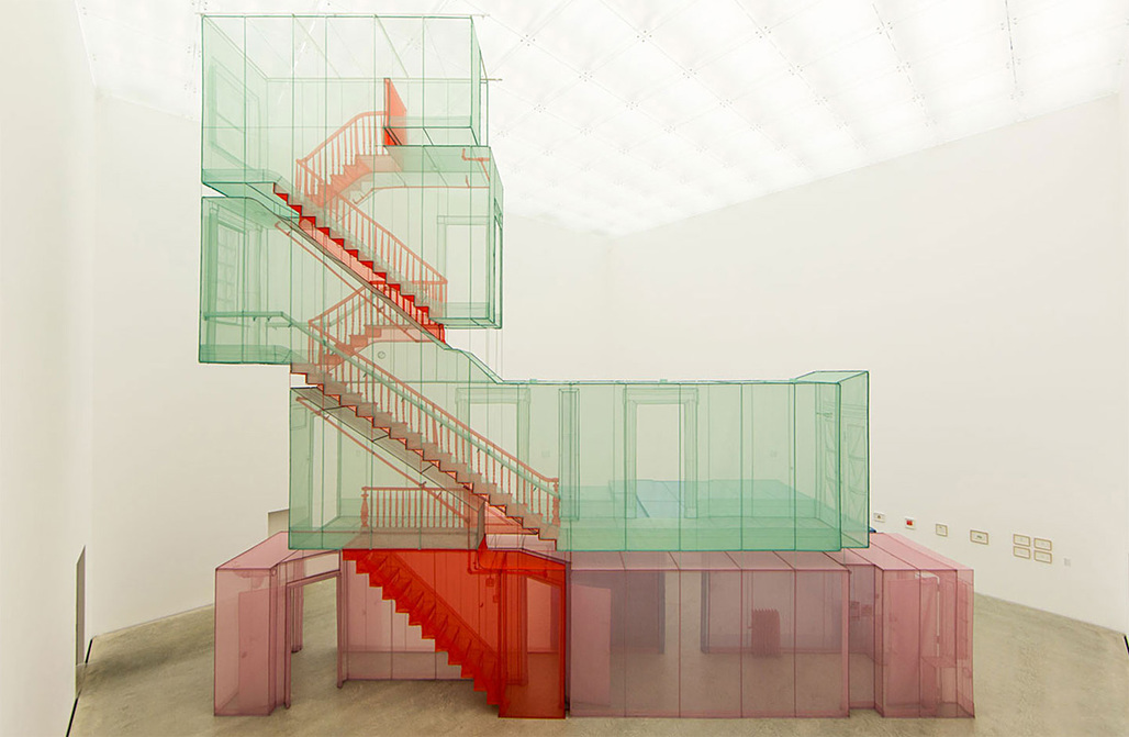 348 West 22nd Street, New York, NY 10011, USA Apartment A, Corridors and Staircases - Do Ho Suh. Image courtesy of the Artist and Lehman, Maupin, New York.