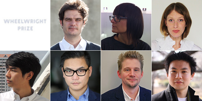 Wheelwright Prize 2014 Finalists: Jose Ahedo, Ana Dana Beros, Alison Crawshaw, Kaz Yoneda, Sean Lally, Jimenez Lai, Masaaki Iwamoto (clockwise from top left). Image courtesy Wheelwright Prize