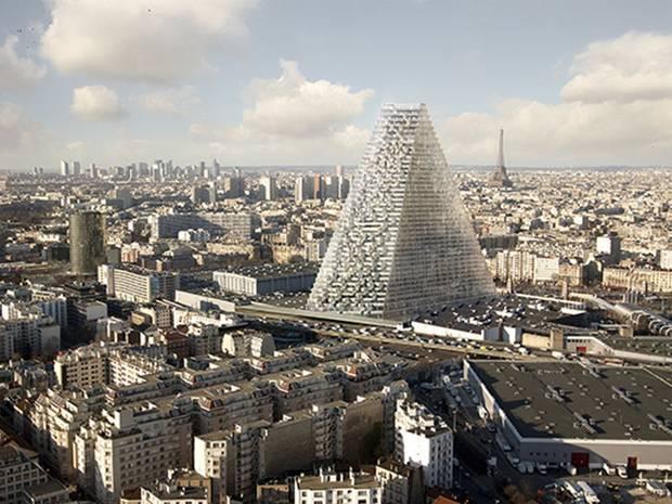 Herzog & de Meurons rendering of Tour Triangle.