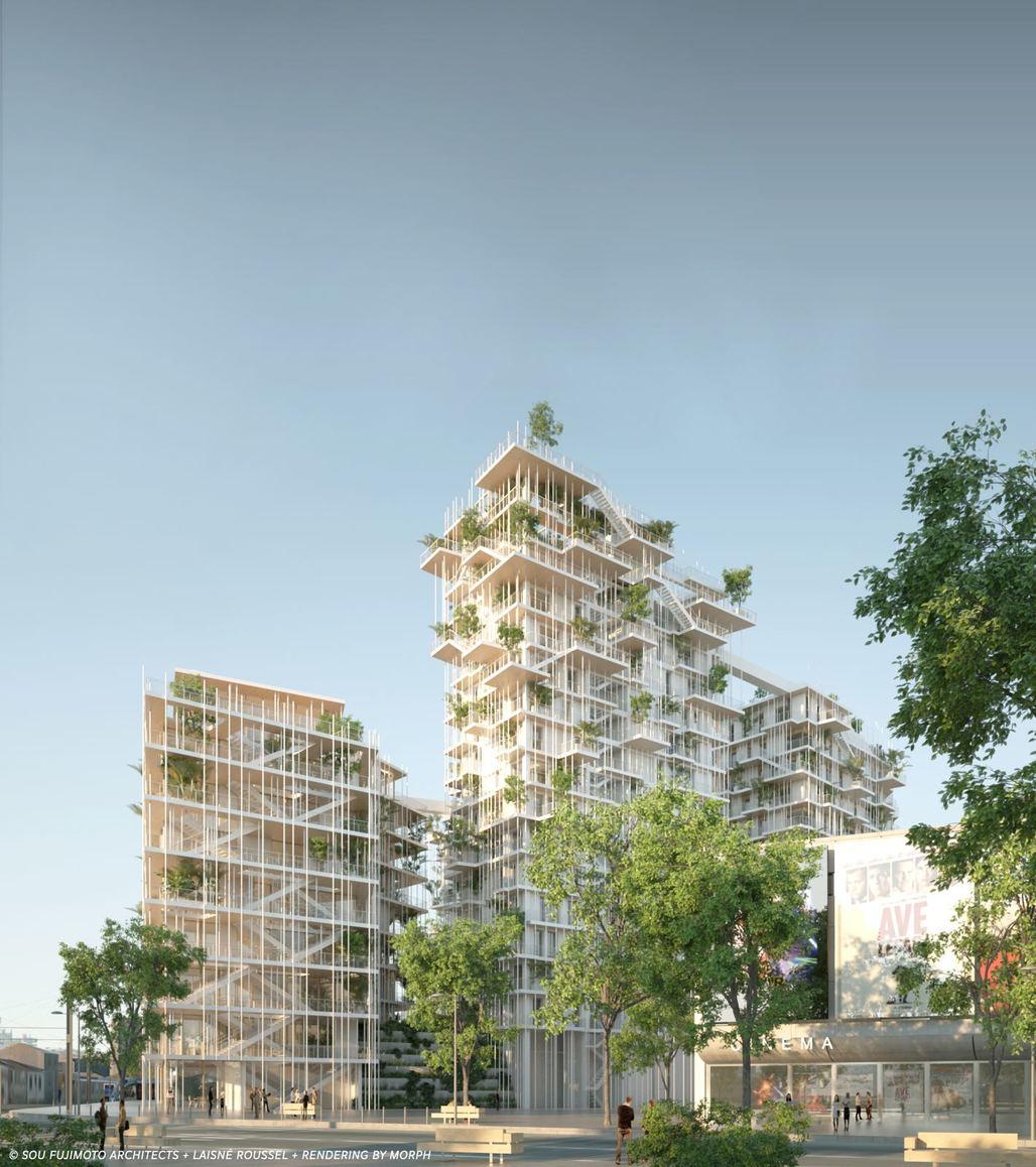 Sou Fujimoto and Laisné Roussels proposal for Canopia. Rendering: Pitch Promotion - Sou Fujimoto Architects - Laisné Roussel