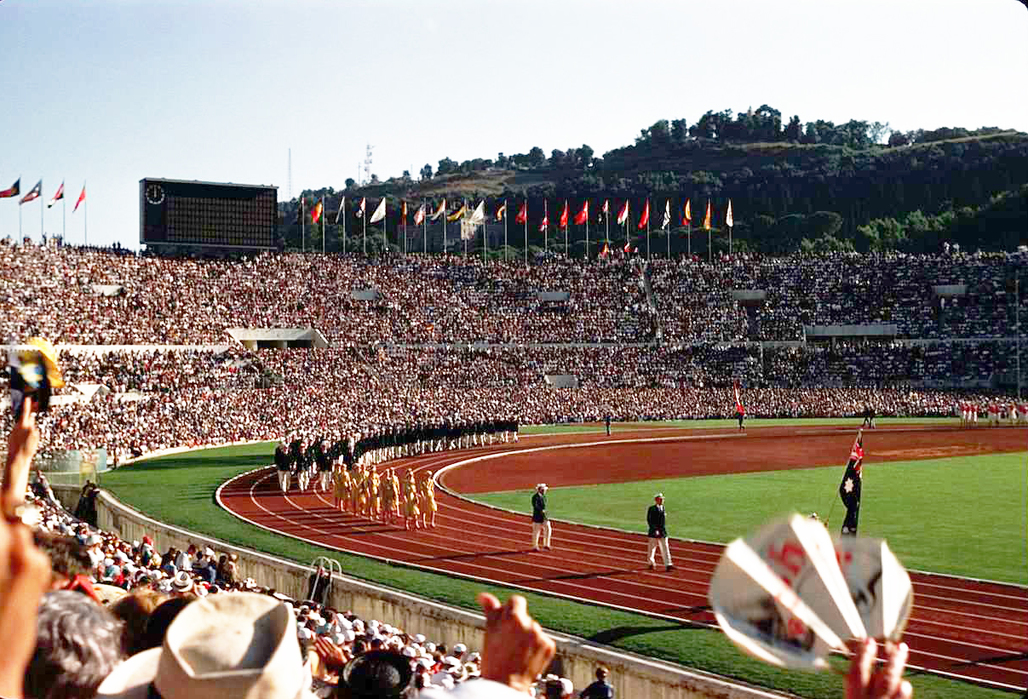 Not this time. Opening ceremony from Romes 1960 Summer Olympics. Image via Wikipedia/flickr user Alex Dawson.