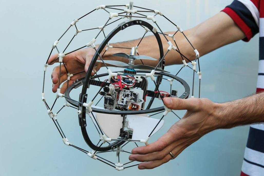Flyabilitys Gimball is the worlds first collision-tolerating drone. Photo via Flyability Facebook page.