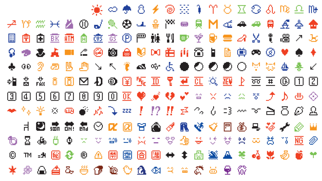 Shigetaka Kurita, Emoji (original set of 176), 1999, Digital image, Gift of NTT DOCOMO, Inc., © 2016 NTT DOCOMO. Courtesy of Museum of Modern Art.