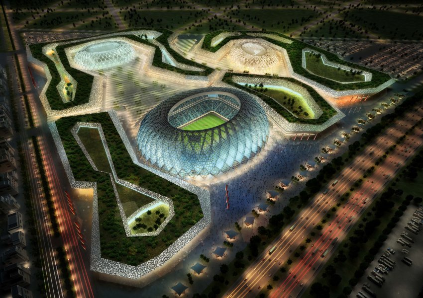 The Al-Wakrah Stadium will be renovated to increase its seating capacity from 20,000 to 45,000. The new design comes from Speers Frankfurt-based architecture firm via AS&P/ hhvision