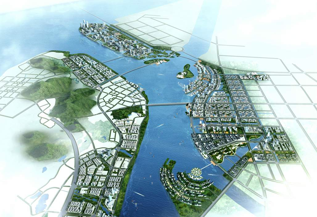 "A render of a plan for Nanshu, a so-called ""smart city,"" outside of Guangzhou, China. Credit: Wikipedia"