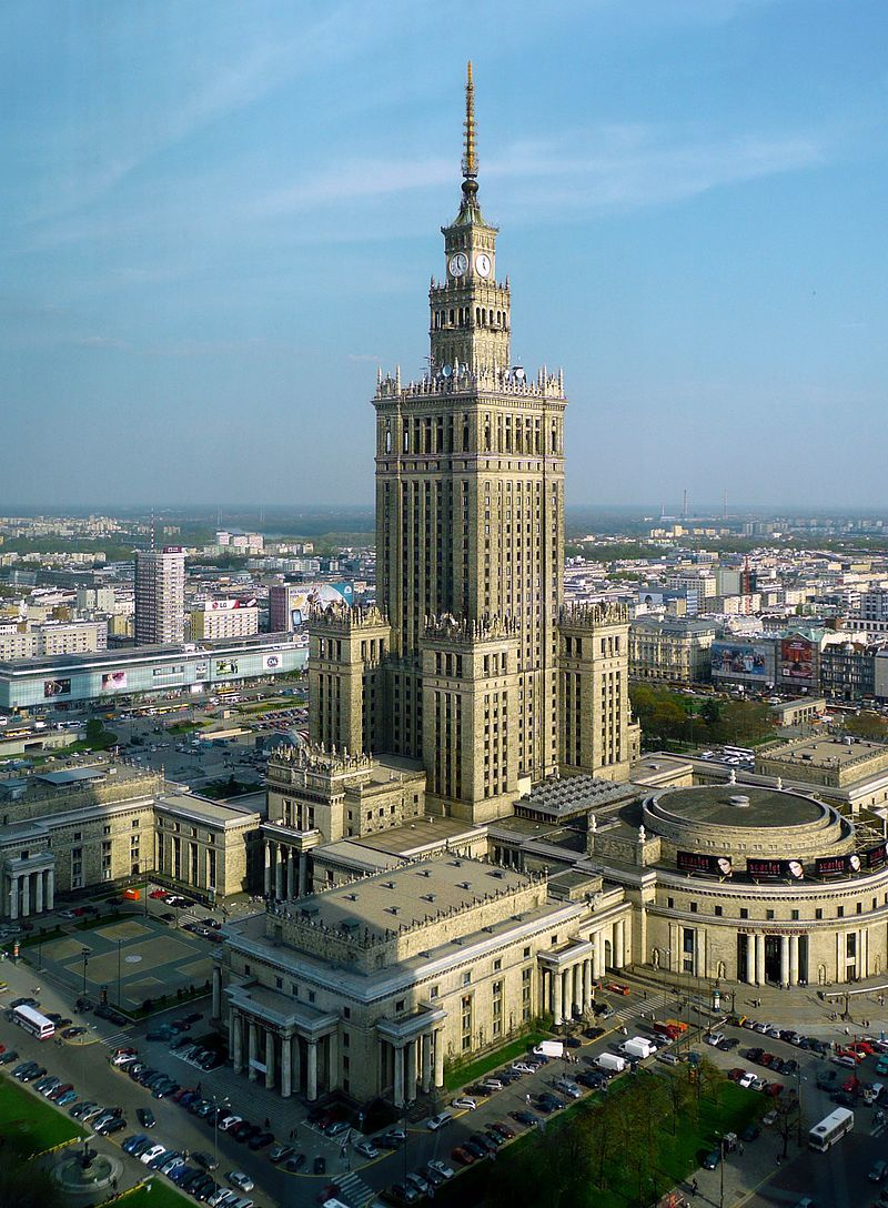 The Palace of Culture and Science in Warsaw is one of the most dominating reminders of Soviet influence in Poland. Image via wikimedia.org