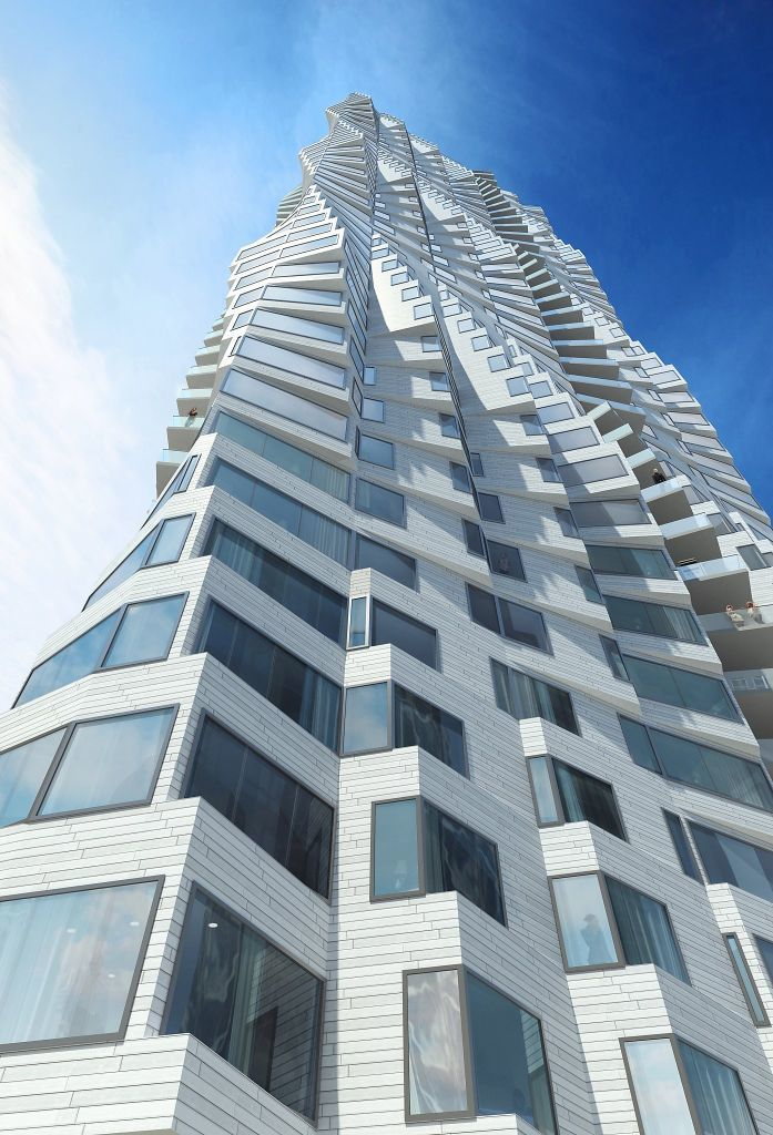 Jeanne Gangs proposed 40-story tower for Folsom and Spear streets in San Francisco. Image: Studio Gang, via sfchronicle.com.