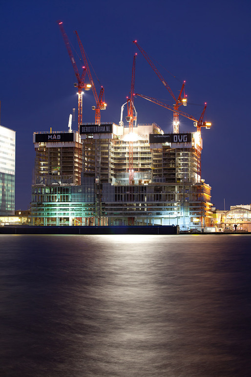 Building 'The Rotterdam,' under construction, architect OMA, Rem Koolhaas, 2013, Rotterdam © Ossip van Duivenbode
