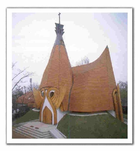 Lutheran Church in Siófok, Hungary by Imre Makovecz