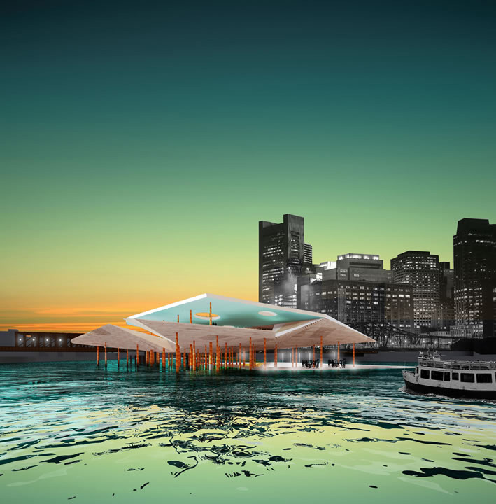 Robert Alexanders design for a water transit station in Boston won him the 2013 Rotch Travelling Scholarship (Image: Robert Alexander)