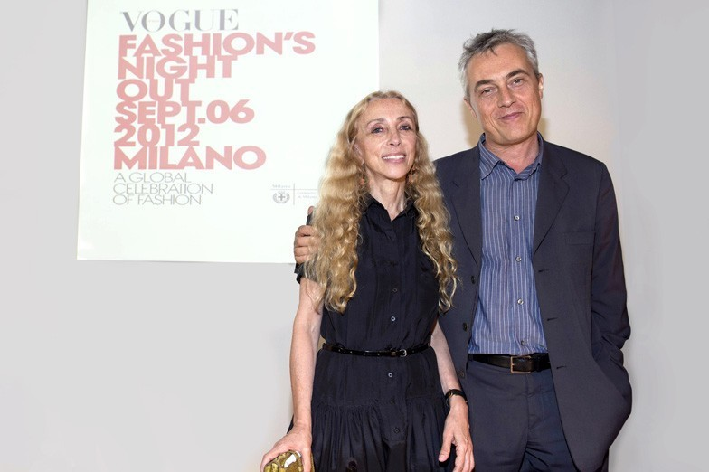 Franca Sozzani and Stefano Boeri at the press conference for Vogue Fashions Night Out in Milan, via vogue.it