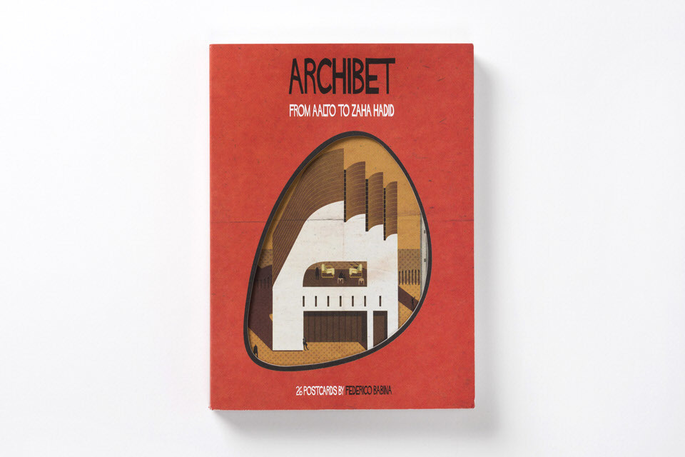 "Make sending postcards cool again with Federico Babinas ""Archibet"". Image courtesy of Laurence King Publishing."