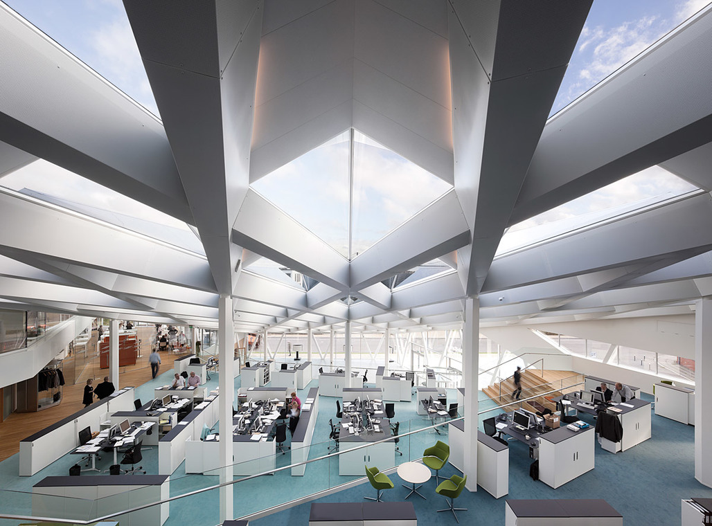 Interior of the 3XN-designed Middelfart Sparekasse (Photo: Adam Mørk)