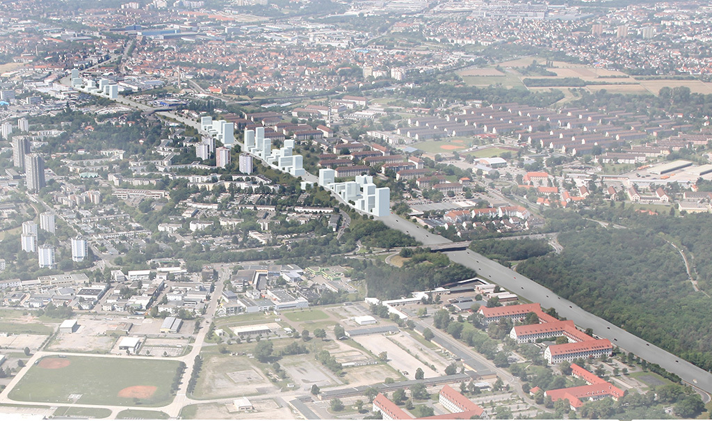 """Inverse Boulevard"" for E12 Germany - Mannheim. Image courtesy of Kawahara Krause Architects."