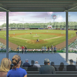 Lexington County Blowfish Stadium - View from the press box