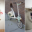 From L to R: Recent work by students from Pratt's highly ranked design and architecture programs. &quot;Ethics + Aesthetics = Sustainable Fashion&quot; exhibition design by graduate interior design students, bike design by industrial design graduate Nick Foley (B.I.D. '10), and Hunter Douglas sponsored studio prototypes by undergraduate architecture and interior design students.