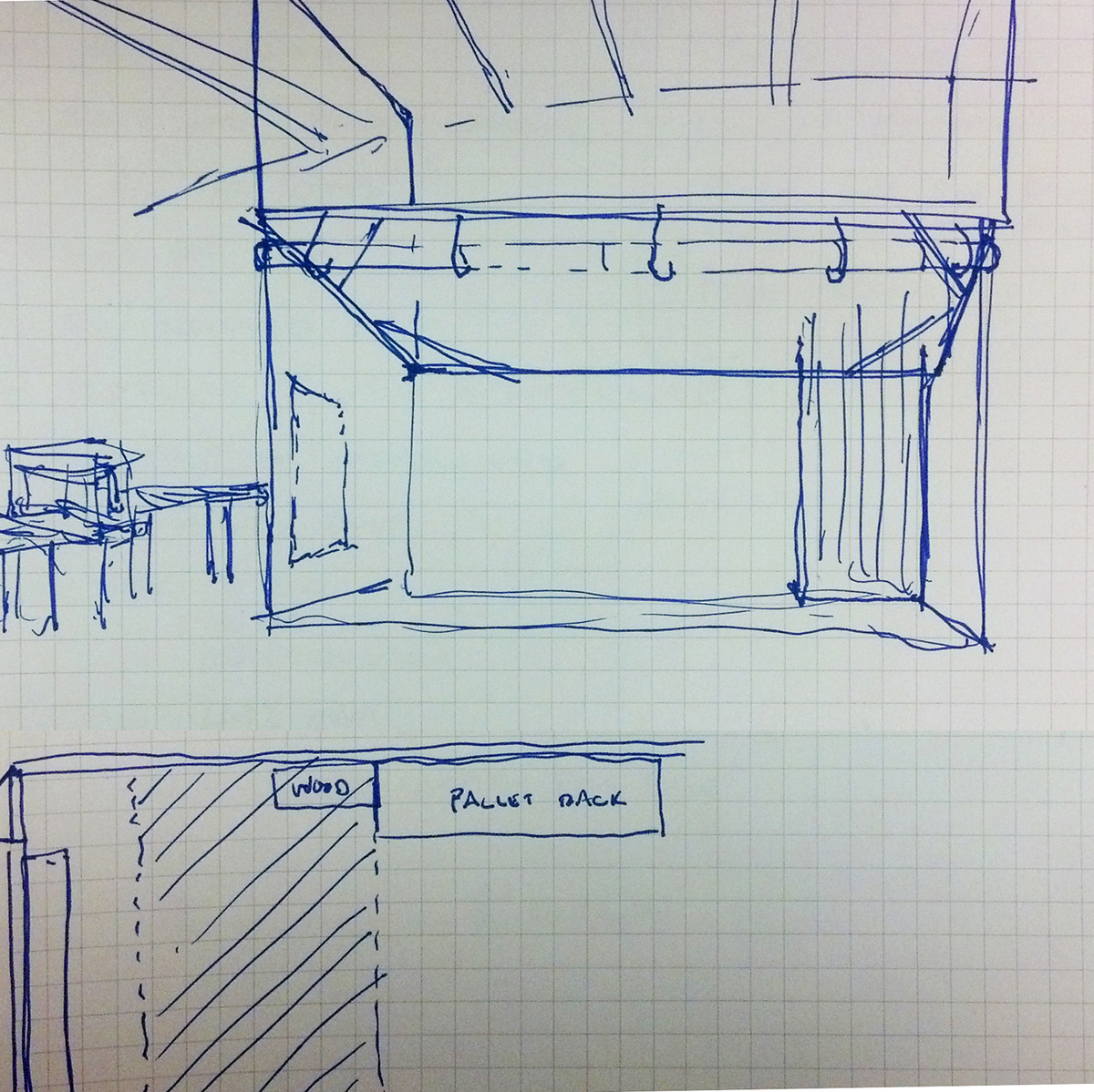 Sketch of proposed Clean Room