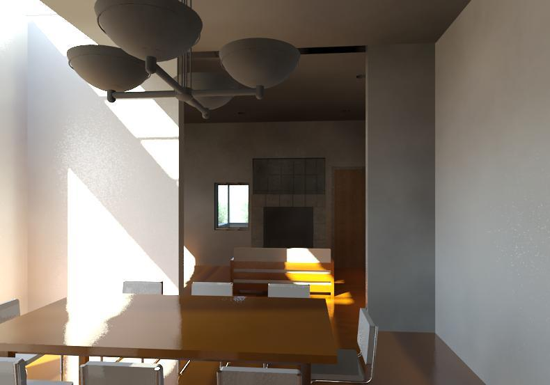 Rendering of dining room