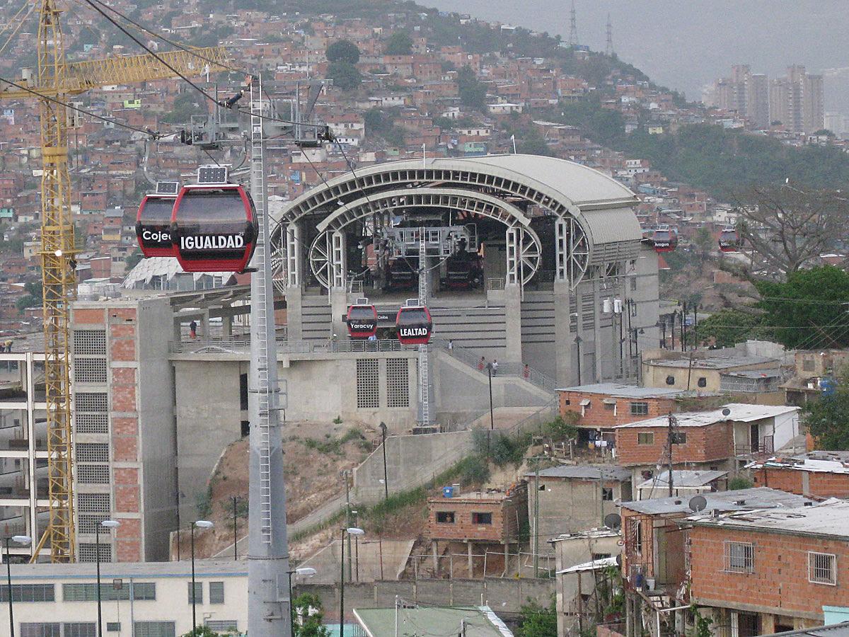 Metro Cable in San Agustin, Caracas (Venezuela)